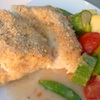Baked cod and vegetables with lemon butter garlic sauce