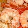 Photo of shrimp in creamy garlic sauce recipe served with pasta