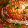 Photo of swordfish with lemon garlic sauce