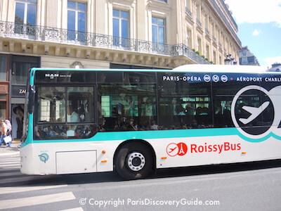 Roissy bus near Opera