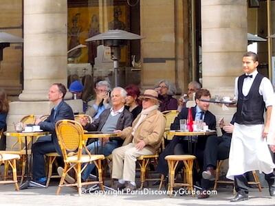 Cafe Le Nemours near Palais Royal