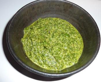 Picture of Cilantro and Garlic Pesto / www.super-seafood-recipes.com