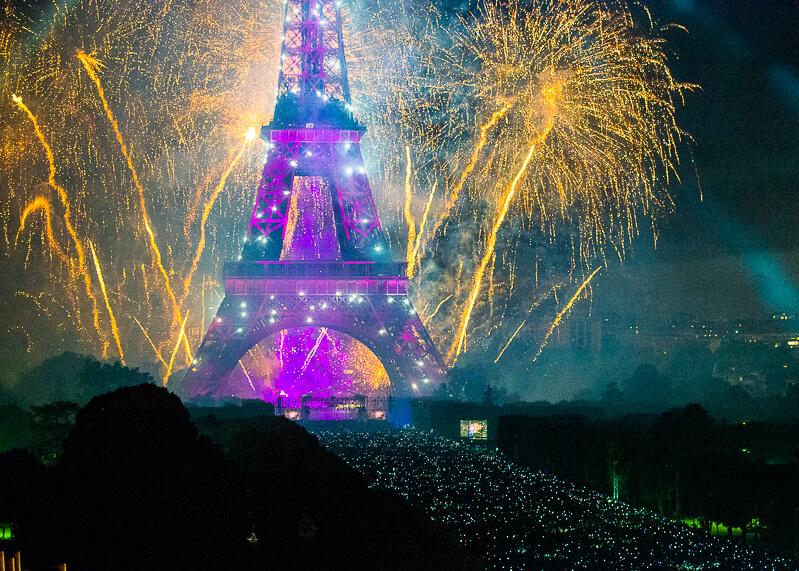 Bastille Day fireworks in Paris