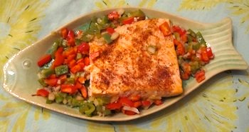 Picture of Cajun baked salmon / www.super-seafood-recipes.com